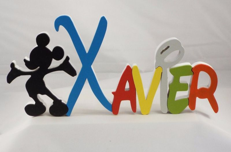 DISNEY STYLE WOODEN  NAME PLAQUE /LETTERS/NAME PLAQUES/SIGN/ PAINTED lam1